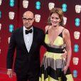 Stanley Tucci et sa femme Felicity Blunt - Arrivée des people à la cérémonie des British Academy Film Awards (BAFTA) au Royal Albert Hall à Londres, le 12 février 2017.