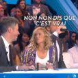 """Jean-Luc Lemoine et Enora Malagré dans """"Touche pas à mon poste"""", le 15 février 2017 sur C8."""