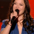"""Candice Parise dans """"The Voice 6"""", le 18 février 2017 sur TF1."""