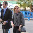 L'infante Cristina d'Espagne et son mari Inaki Urdangarin arrivent au tribunal de Palma de Majorque pour le procès de l'affaire Noos, le 23 février 2016.