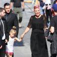 Pink, Willow Hart, Carey Hart arrivent à l'émission 'Jimmy Kimmel Live!' à Hollywood, le 23 mai 2016