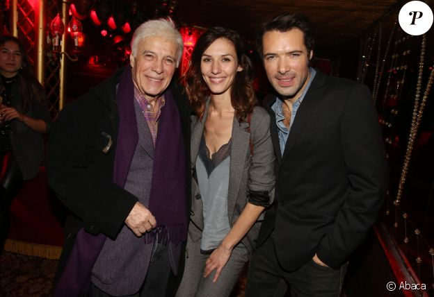 "Guy Bedos, Doria Tillier et Nicolas Bedos - After-party du film ""Mr & Mme Adelman"" au Raspoutine à Paris, le 19 décembre 2016."