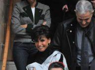 Rachida Dati sortie de clinique avec sa petite Zohra... en bandoulière ! (réactualisé plus de photos)
