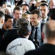 Emmanuel Macron lors d'une réunion publique à Saint-Priest-Taurion, près de Limoges. Le 25 février 2017 © Patrick Bernard / Bestimage