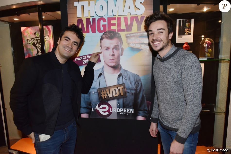 Exclusif - Alex Goude et son mari Romain lors du Showcase de Thomas Angelvy au théâtre l'Européen à Paris, France, le 27 février 2017. © Giancarlo Gorassini/Bestimage