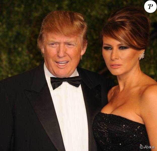 Donald Trump et sa femme à la Vanity Fair Oscar party 2011