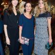 """Camille Thomas, Amel Chaabi et Dolores Doll-Défilé de mode """"Paule Ka"""" collection prêt-à-porter Automne-Hiver 2017/2018 à l'hôtel Intercontinental à Paris, le 27 février 2017."""
