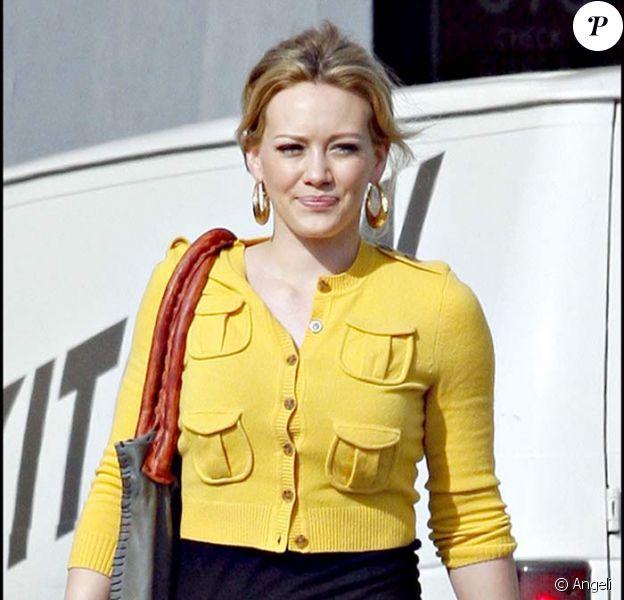 Hilary Duff sort des studios de Culver City