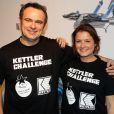 """Exclusif - Christophe Delay et Pascale de La Tour du Pin (BFM TV) - Kettler Challenge au profit de l'association """"L'étoile de Martin"""" à l'hôtel Molitor à Paris, le 1er décembre 2014."""