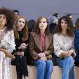 Solange Knowles, Emma Roberts, Isabelle Huppert, Houda Benyamina, Clémence Poesy- Défilé Chloé, prêt-à-porter automne-hiver 2017/2018 au Grand Palais à Paris. Le 2 mars 2017.
