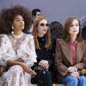 Fashion Week : Isabelle Huppert et Houda Benyamina, matinales et radieuses