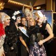 """Sylvie Tellier, Alicia Aylies (Miss France 2017) et guest lors de la générale de la comédie musicale """"Priscilla Folle du Désert"""" au Casino de Paris, le 1er mars 2017. © Marc Ausset-Lacroix/Bestimage"""