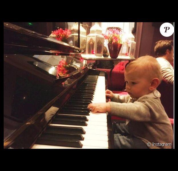 Tom, le fils d'Ingrid Chauvin. Instagram, le 2 février 2017