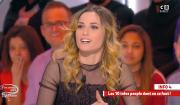 """Nouvelle confidence coquine de Capucine Anav dans """"Il en pense quoi Matthieu ?"""" sur C8, le 3 mars 2017."""