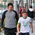Exclu - David et Brooklyn Beckham à Beverly Hills le 14 novembre 2011