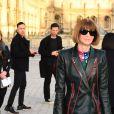 """Anna Wintour au défilé de mode """"Louis Vuitton"""", collection prêt-à-porter Automne-Hiver 2017-2018 à Paris,Musée du Louvre le 7 Mars 2017."""