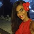 Tatiana Silva, ex-Miss Belgique (2005) et ex-compagne du chanteur Stromae, a été recrutée par TF1 comme Miss Météo ! Photo Instagram lors de l'élection Miss Tahiti 2015.