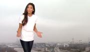 Première météo de Tatiana Silva sur TF1. Le 10 mars 2017.