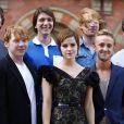 Emma Watson et le cast d'Harry Potter à Londres le 6 juillet 2011.