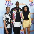 Lamar Odom et ses enfants Lamar Odom Jr et Destiny - Nickelodeon's 2017 Kids' Choice Awards à l'USC Galen Center à Los Angeles le 11 mars 2017.