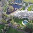Exclusif - Vue aérienne de la propriété de la chanteuse Pink à Santa Barbara le 9 février 2017