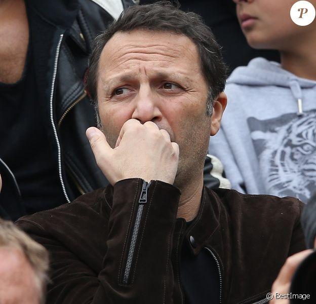 Arthur dans les tribunes de la finale homme des internationaux de France de Roland Garros à Paris le 5 juin 2016.