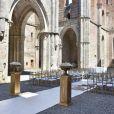 Mariage du pilote de formule 1 Kimi Raikkonen et du mannequin Minttu Virtanen en Toscane à L'abbaye de San Galgano à Chiusdino le 7 août 2016.