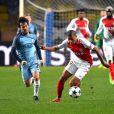 Kylian Mbappé à l'attaque lors du match retour de huitième de finale de Ligue des Champions entre l'AS Monaco et Manchester City au stade Louis II à Monaco le 15 mars 2017. Le club de la principauté, défait à l'aller 5 à 3, s'est qualifié pour les quarts de finale en battant les Anglais 3 buts à 1. © Bruno Bebert/Bestimage