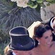 Jesse James et Alexis Dejoria lors de leur mariage à Malibu le 24 mars 2013