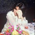 Corinne Barcessat, veuve de Daniel Balavoine, à Paris en 1986