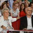 """Mimie Mathy et son mari Benoist Gerard - Enregistrement de l'emission """"Vivement Dimanche"""" a Paris le 2 octobre 2013."""