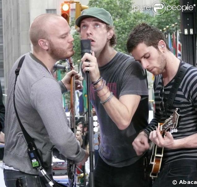 Will Champion, Chris Martin et Guy Berryman de Coldplay