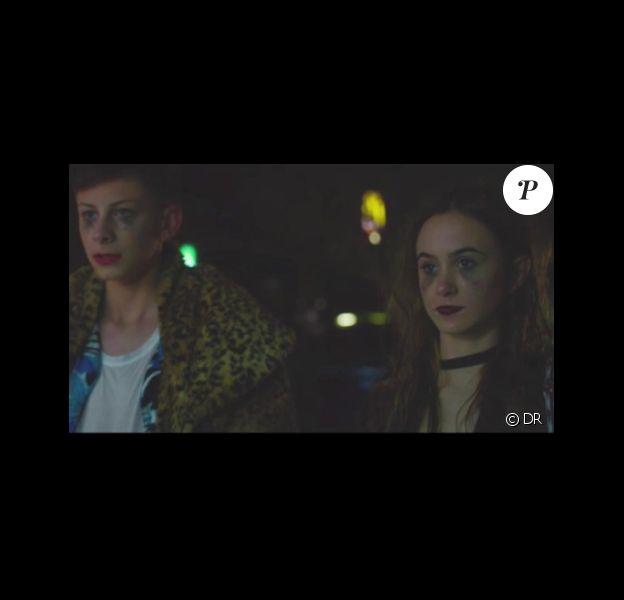 Capture d'écran du clip de Monogem, Wild, dans lequel apparaît Coco Arquette, la fille de Courteney Cox et David Arquette