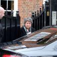 Peut-être la tante de George Michael - Préparatifs à la maison de George Michael le jour de ses obsèques le 29 mars 2017 à Londres.