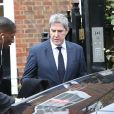 Préparatifs à la maison de George Michael le jour de ses obsèques le 29 mars 2017 à Londres.