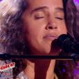 "Marianne Aya Omac dans ""The Voice 6"" le 1er avril 2017 sur TF1."