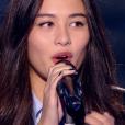 """Lou Maï dans """"The Voice 6"""", le 1er avril 2017 sur TF1."""