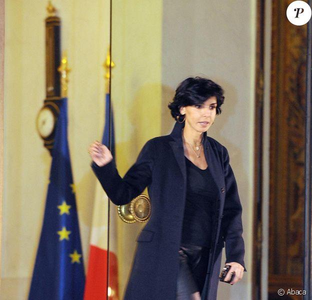 Rachida Dati, sur le perron de l'Elysée, le 13/01/09.