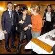 Rachida Dati au restaurant Thoumieux à la soirée de rentrée des commerçants du 7e, le 13/01/09