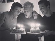 Benjamin Castaldi : Entouré de deux de ses fils pour son anniversaire...
