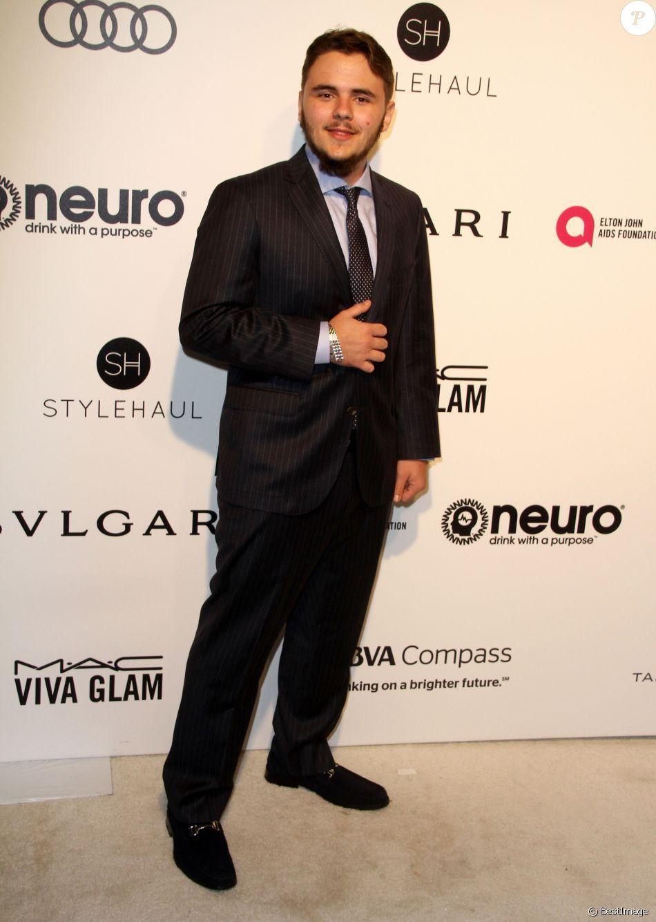 Prince Jackson à la 25ème soirée Elton John AIDS foundation au West Hollywood Park à West Hollywood, le 26 février 2017.