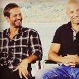 Vin Diesel rend hommage à Paul Walker dans un post Instagram posté le 21 mai 2016.