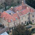 Exclusif - Vue aérienne de la maison de George Clooney et sa femme Amal Alamuddin dans le Berkshire en Angleterre. Le 28 janvier 2017.