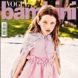Ever Gabo, fille de Milla Jovovich et Paul W.S. Anderson, en couverture du magazine Vogue Bambini. Numéro d'avril 2017, photo par Ellen von Unwerth.