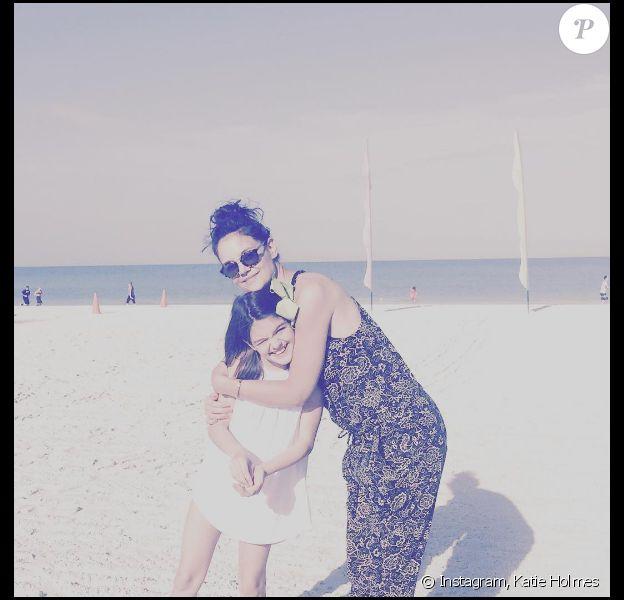 Katie Holmes avec sa fille Suri à Miami.