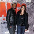 """Mc Solaar et Olivia Sabah - Avant-première parisienne du film """"Django Unchained"""" au cinéma le Grand Rex à Paris le 7 Janvier 2013."""