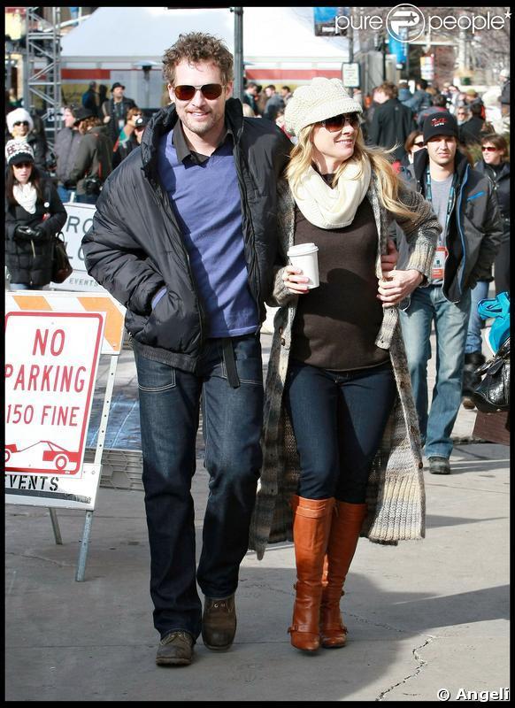 Anne Heche, enceinte et son compagnon James Tupper, au Festival de Sundance