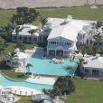 Vue aérienne de la villa de Céline Dion, en Floride.