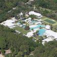 Vue aérienne de la villa de la chanteuse Céline Dion, en Floride.