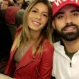 Sarah Lopez et Vincent Queijo dans l'avion pour Marrakech, Snapchat, 27 mars 2017